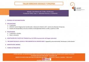TALLER DERECHOS SOCIALES Y EPILEPSIA