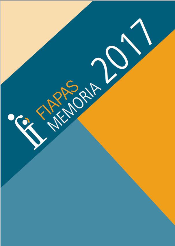 Portada de la memoria de actividades FIAPAS 2017