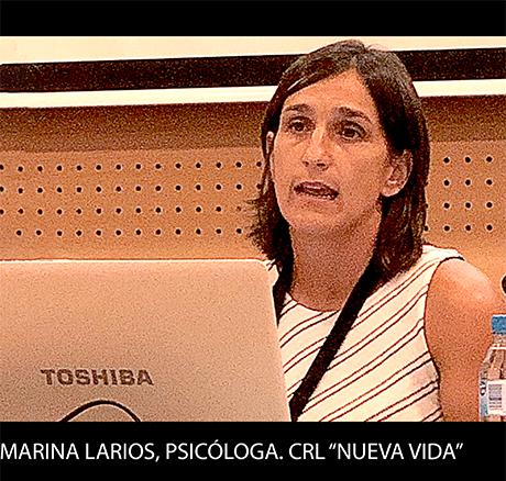 Marina Larios, psicóloga del CRL Nueva vida