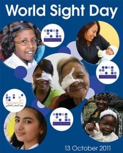 Cartel del Día Mundial de la Visión 2011.