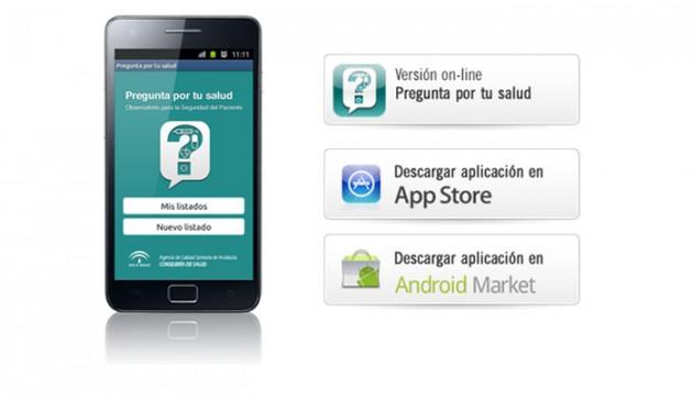 pregunta por tu salud. aplicación para smartphone desarrollada por la Consejería andaluza de Sanidad