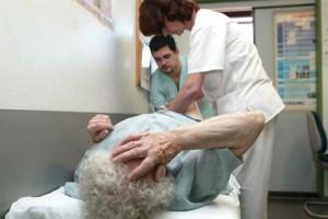 Paciente afectada de fibromialgia