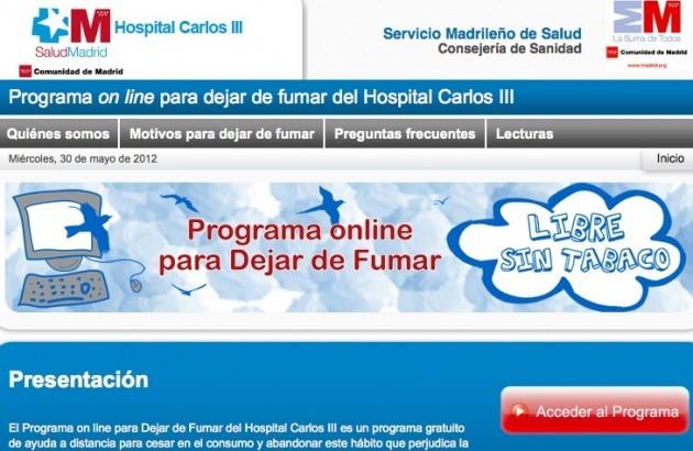Programa on line para Dejar de Fumar