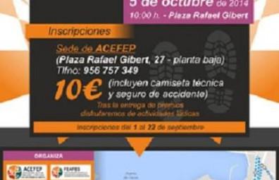 Carrera solidaria '4.300 pasos por la Salud Mental' de ACEFEP, en Ceuta