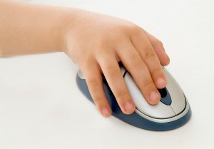 ratón ordenador niño