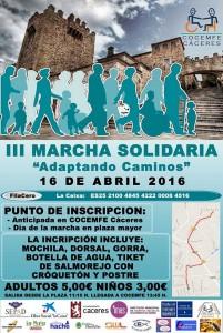 marcha solidaria COCEMFE Cáceres