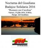 'Carrera Nocturna del Guadiana' a beneficio del Grupo Omnibus