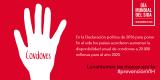 En el Día Mundial del Sida, 'Levantemos las manos por la #PrevenciónVIH'