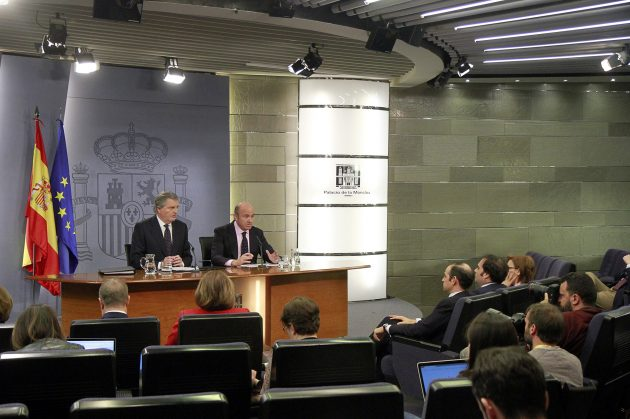 Rueda de Prensa posterior al Consejo de Ministros. Pool Moncloa/José María Cuadrado.