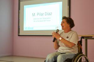 M. Pilar Díaz, presidenta de Cocemfe Barcelona y directora del Observatorio de la Discapacidad Física.
