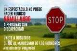 El movimiento asociativo aragonés se une frente al espectáculo 'Manicomio'