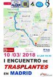 I Encuentro de Trasplantes en Madrid', el sábado 10 de marzo en Madrid