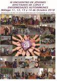 III Encuentro de Jóvenes Afectados de Lupus, del 11 al 14 de octubre en Málaga