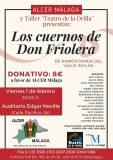 Teatro solidario a beneficio de ALCER Málaga, este viernes en Málaga