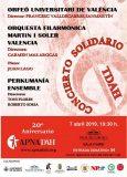 Concierto benéfico por el XX aniversario de APNADAH, el 7 de abril en Valencia