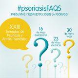 'XXIII Jornadas de Psoriasis y Artritis Psoriásica' en Barcelona, Valencia y Vigo