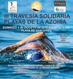 Travesía a nado solidaria a beneficio de D'genes, FQMurcia y Fundación Tiovivo